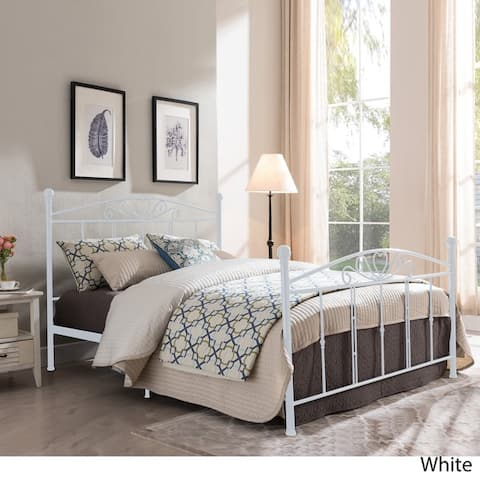 Pallas Classical Metal Queen-Sized Bed Frame by Christopher Knight Home - Queen