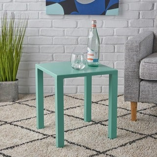 Naum Modern 16-inch Square Aluminum Side Table by Christopher Knight Home