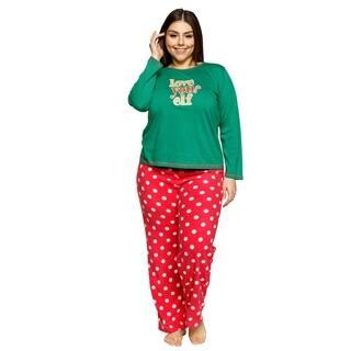 Xehar Womens Plus Size Comfy Love Your Elf Pajama Pjs Sleepwear Set https://ak1.ostkcdn.com/images/products/18529800/P24638182.jpg?impolicy=medium
