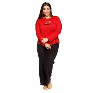 Xehar Womens Plus Size Meet Me Under the Mistletoe Pajama Pjs Set https://ak1.ostkcdn.com/images/products/18529801/P24638206.jpg?impolicy=medium
