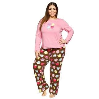 Xehar Womens Plus Size Hot Cocoa Is Better With Friends Pajama Pj Set