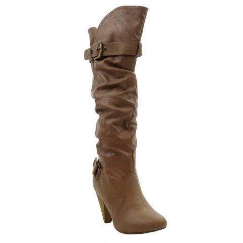 BLUE Womens MERTON-03-B Suede Dress Mid-calf Fashion Boots