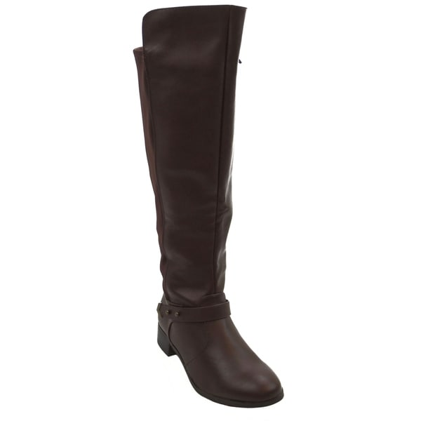 Blue Womens CANTON-VED-B Suede Dress Mid-calf Fashion Boots