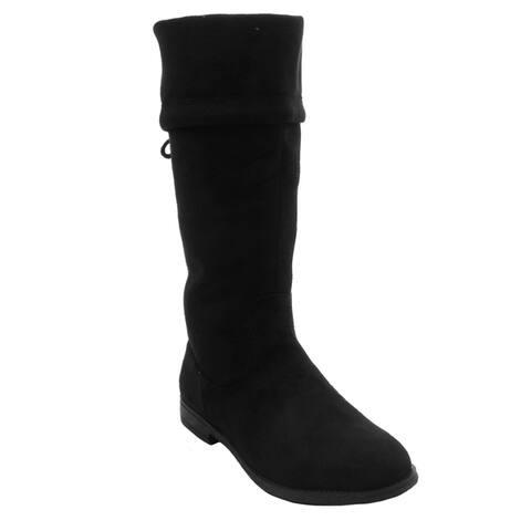 Blue Womens KOOLIO-H Suede Dress Mid-calf Fashion Boots