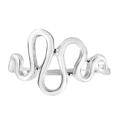 Amazing Waves and Curls of Sterling Silver Ring (Thailand)