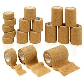 MEDca Self Adherent Cohesive Wrap Bandages 18 Assorted Rolls Skin Color