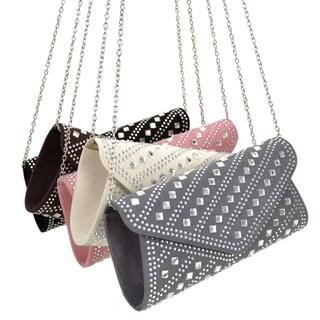 Dasein Rectangular Studded Rhinestone Evening Handbag (Option: Ivory) https://ak1.ostkcdn.com/images/products/18530539/P24638810.jpg?_ostk_perf_=percv&impolicy=medium