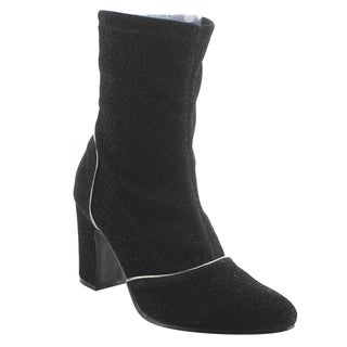 NATURE BREEZE EK64 Women's Stretchy Side Zipper Ankle Booties