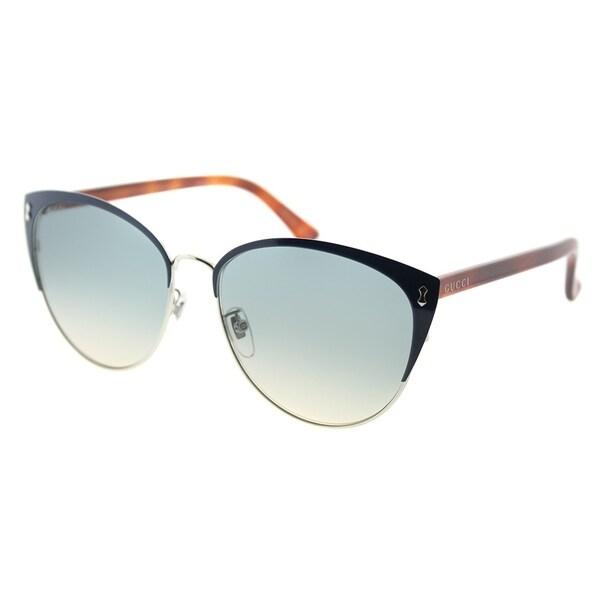 399ee9dde3 Gucci Fashion GG 0197SK 004 Women Blue Frame Blue Gradient Lens Sunglasses