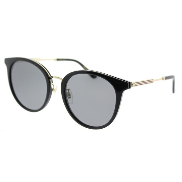 be525f0ae3 Gucci Fashion GG 0204SK 001 Women Black Frame Grey Lens Sunglasses