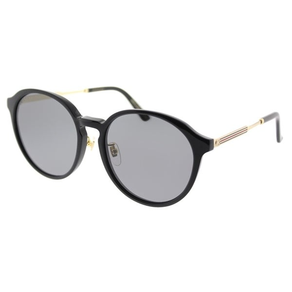 cb07f66333d8d Shop Gucci Fashion GG 0205SK 001 Unisex Black Frame Grey Lens Sunglasses - Free  Shipping Today - Overstock - 18531585