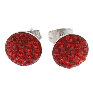 Orchid Jewelry Zinc Alloy Fashion Stud Earrings - Red