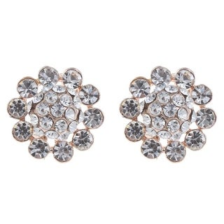 Orchid Jewelry Zinc Alloy Fashion Stud Earrings - White