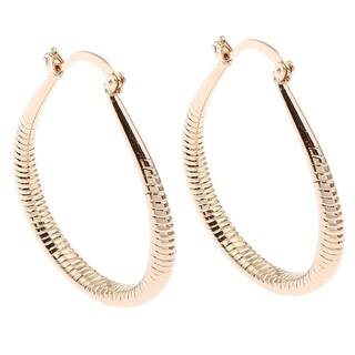 Orchid Jewelry Gold Color Overlay Fashion Hoop Earrings - YELLOW|https://ak1.ostkcdn.com/images/products/18531674/P24639871.jpg?impolicy=medium