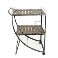 Splendid Metal & Wood Tea Cart, Brown