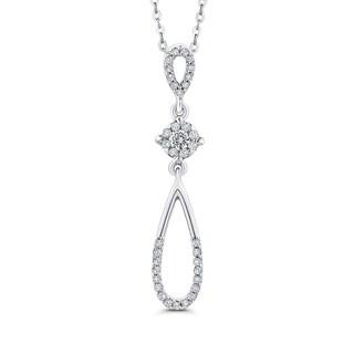 10K White Gold 1/5ct TDW Diamond Fashion Pendant (I-J, I1)