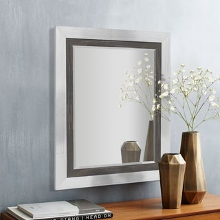 Appalachian Charcoal Framed Beveled Wall Mirror