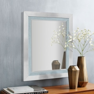 Appalachian Frost Framed Beveled Wall Mirror