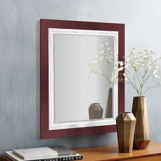 Appalachian Crimson Framed Beveled Wall Mirror