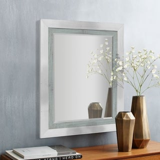 Appalachian Blue-Grey Framed Beveled Wall Mirror
