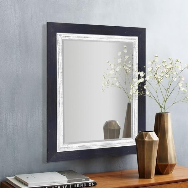 Appalachian Navy Framed Beveled Wall Mirror