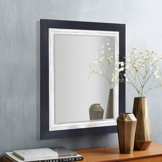 Appalachian Navy Framed Beveled Wall Mirror