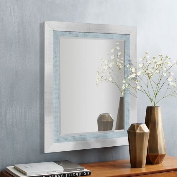 Appalachian Frost Framed Beveled Wall Mirror