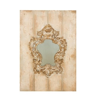 Vienna Baroque Wooden and Antiqued Glass Decorative Wall Mirror