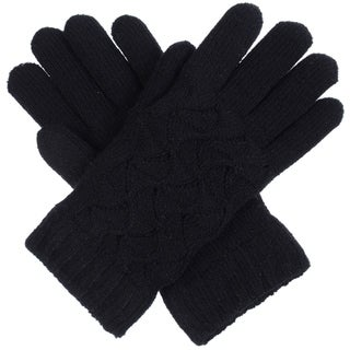 Link to BYOS Women Winter Swirl Pattern Ultra Warm Soft Plush Faux Fur Fleece Lined Knit Gloves Similar Items in Gloves