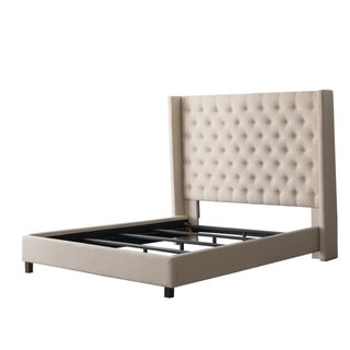 CorLiving Fairfield Tufted Fabric Bed with Wings, Twin/Single