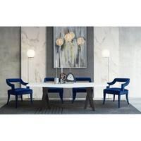 Tiffany Navy Velvet Chair