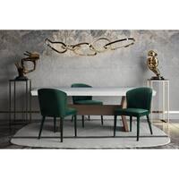 Metropolitan Forest Green Velvet Chair