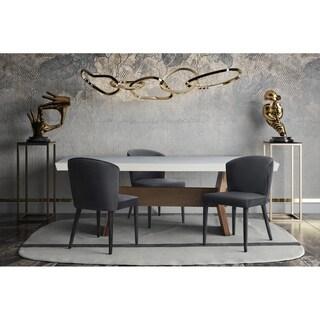 Metropolitan Grey Velvet and Birchwood Upholstered Accent/Dining Chair