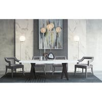 Tiffany Grey Velvet Chair