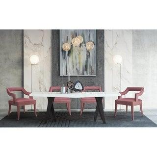 Tiffany Pink Slub Velvet Chair