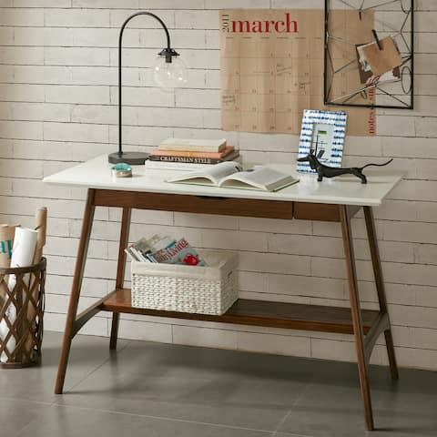 Madison Park Avalon Solid Wood Mid-Century Desk