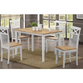 Scandinavian Living Montana Rubberwood and Wood Dining Table (2 options available)