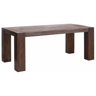 Scandinavian Living Aisha Cappuccino Finish Acacia Wood Large Dining Table With Wide Legs