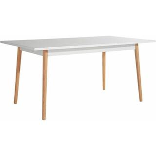 Scandinavian Living Texas White Finish Solid Oak Leg Dining Table