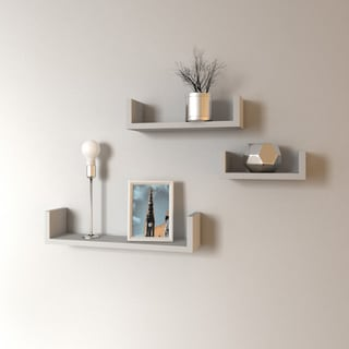 Porch & Den Montclair James Floating 'U' Shelves (Set of 3)