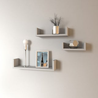 Porch & Den Montclair James Floating 'U' Shelves (Set of 3) (2 options available)