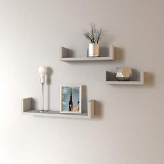 Porch & Den James Floating 'U' Shelves (Set of 3)
