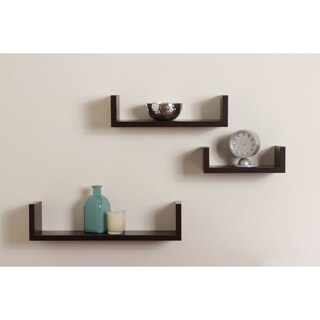 Porch & Den Montclair James Floating 'U' Shelves (Set of 3)