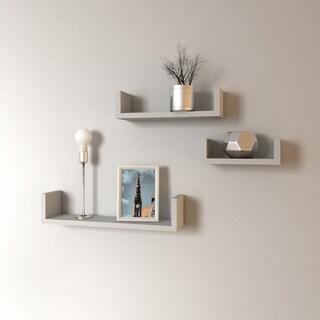 Porch & Den Montclair James Floating 'U' Shelves (Set of 3) (Option: White - Matte)