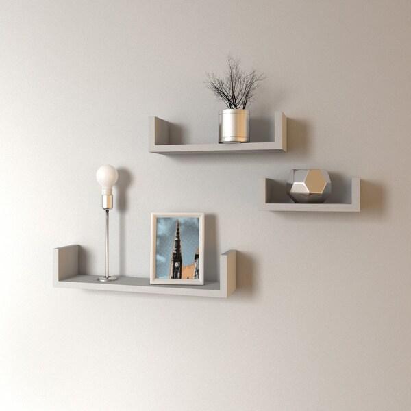 Porch & Den James Floating 'U' Shelves (Set of 3)