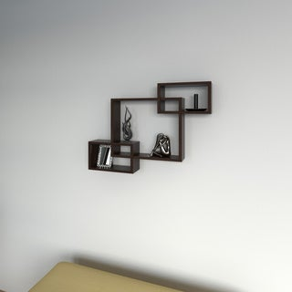 Porch & Den Montclair Willard Laminate Intersecting Rectangles Wall Shelf