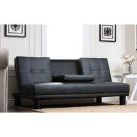 Porch & Den Bridgeport Halsted Convertible Futon Sofa Bed