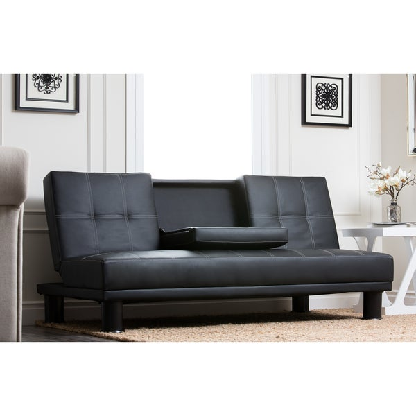 shop abbyson signature convertible futon sofa bed on sale free rh overstock com