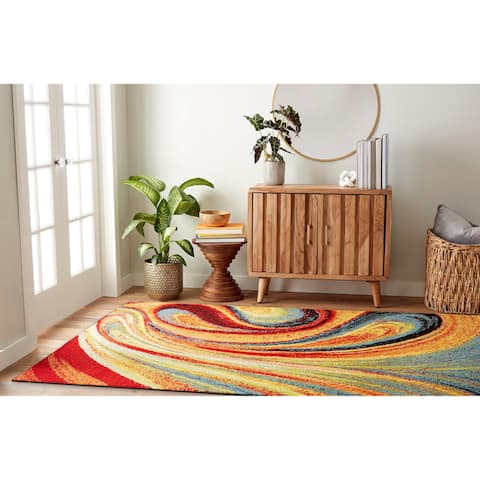 Porch & Den Crowther 211 Multi-colored Swirls Area Rug - set