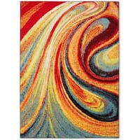 Porch & Den Hampden Crowther 211 Multi-colored Swirls Area Rug - set